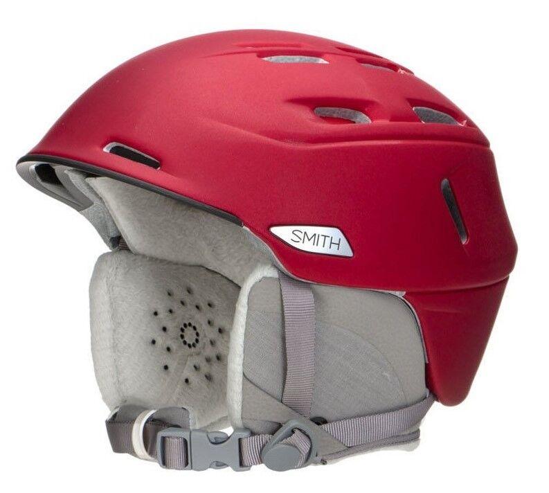 NEW Smith Optics Compass Women's Ski Snowmobile Helmet Metallic Pepper Red Small