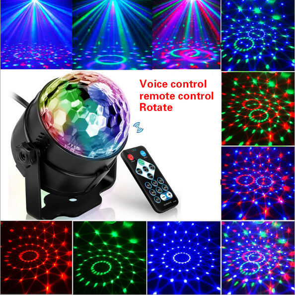 LED RGB Rotating Magic Ball Stage Light Club Bar Disco Party DJ Decor w/ Remote