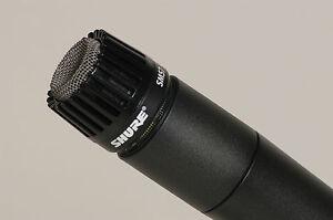 new shure sm57 dynamic microphone drum tom snare hi hat guitar amp mic ebay. Black Bedroom Furniture Sets. Home Design Ideas