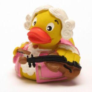Badeente-Mozart-pato-Pink-quietscheentchen-patito-de-hule-celular-quietscheenten