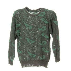 Damen-Strickpullover-Sweater-Groesse-L-Sweatshirt-Pullover-Vintage-Retro-Muster