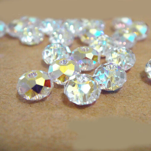 4//6//8//10mm Spangle Crystal Faceted Gem Stone Loose Beads Spacer Strand Findding