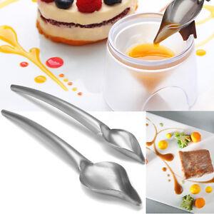 2pcs Set Deco Spoon Decorate Food Draw Design Sauce Dressing Plate