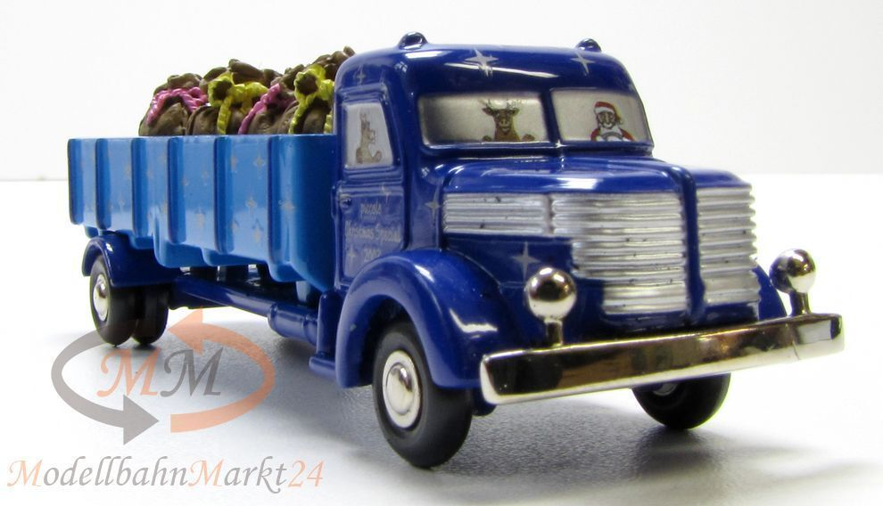 SCHUCO 05672 Piccolo Krupp LKW Pritsche 746 bleu Christmas Special Special Special 2003 - OVP af1eb0