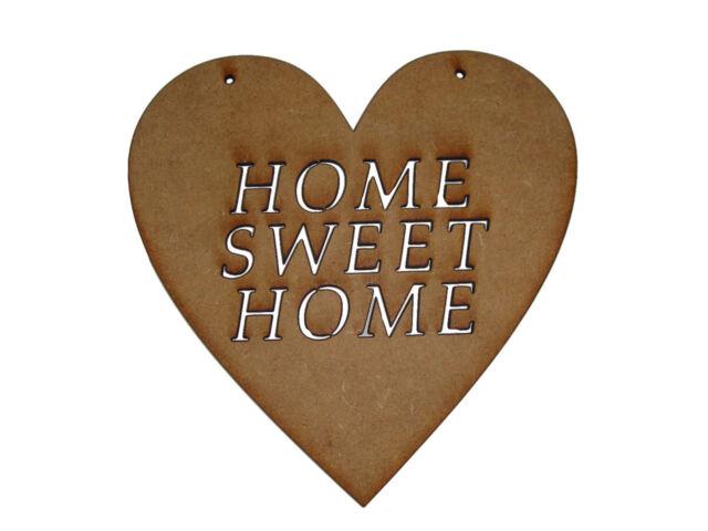"Home sweet home MDF craft shape laser cut. 15 x 15 cm (6"" x 6"")"