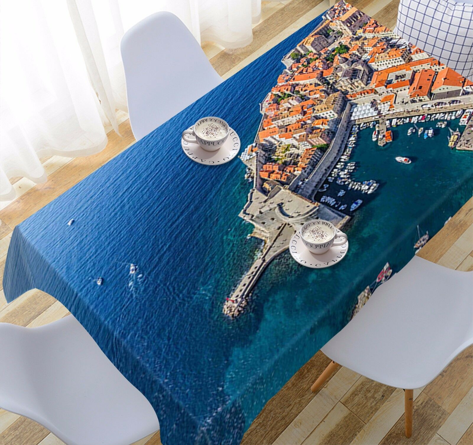 3D Sea City 253 Tablecloth Table Cover Cloth Birthday Party Event AJ WALLPAPER