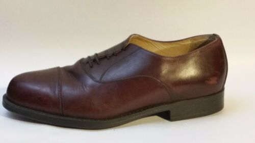 Shoes Dress Cap Leather 9 Brown Toe Eee Mens Rosso Softwear Business Wide Oxford YfzFwq