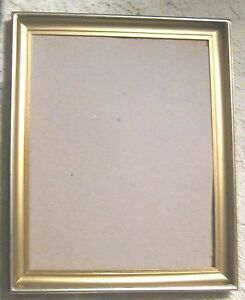 "Vintage Old Picture Frame-Gold Color-Brass? Ornate-7.5""x9.5"" Opening"