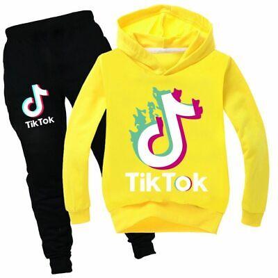 Blue, 13-14years Girl TIK Tok Hoodies Outdoor Sport Sweatshirt Unisex Kids Clothes Outerwear
