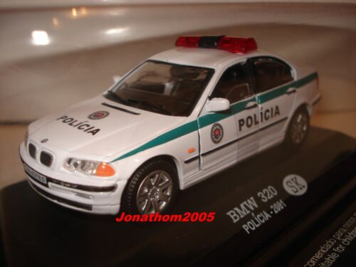 2001 au 1//43° Polizei Slowakei BMW 320 POLICIA SLOVENSKO