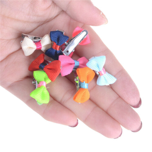 6Pcs Kids Baby Girls Toddler Mini Barrettes Candy Color Hair Clip Bow Hair Zd