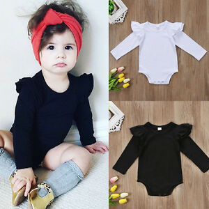 USA-Summer-Newborn-Baby-Girl-Long-Sleeve-Bodysuit-Romper-Jumpsuit-Outfit-Clothes