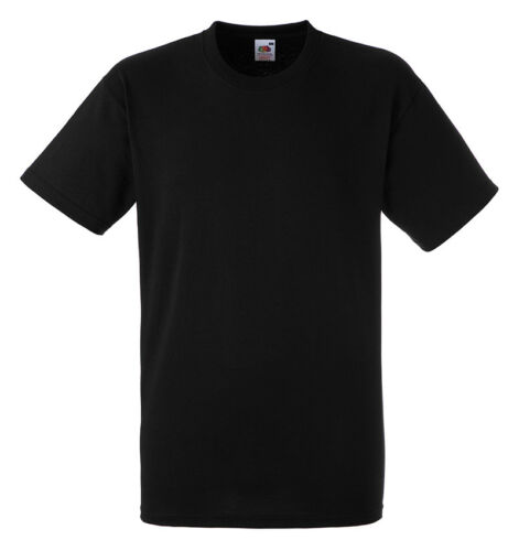 Fruit of the Loom SS008 Mens Heavy Cotton Tee Plain Crew Neck T-Shirt Tshirt Top