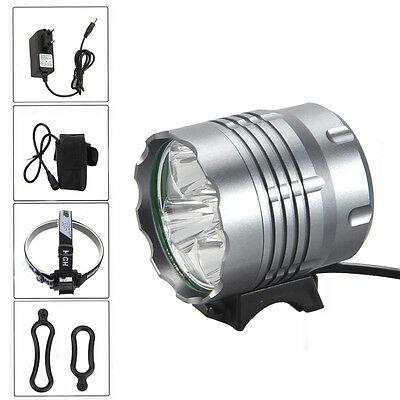 10000Lm 5x XML T6 LED Front Bicycle Light bike Headlamp Head lamp Headlight