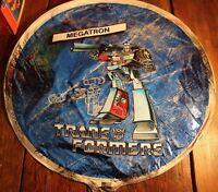 Vintage Megatron Decipticon Transformers Foil Mylar Balloon Unused 1985