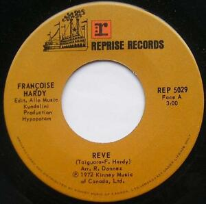 FRANCOISE-HARDY-Reve-Poisson-NM-FRENCH-POP-CANADA-1972-Reprise-45-Vinyl