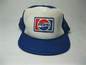 Details about 80 s Pepsi Cola Soda Worker Deli Hat Baseball Cap Mesh Trucker  Old Snap Back Vtg f0236650fd58