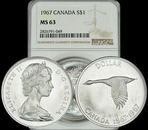 1967-CANADA-GOOSE-SILVER-1-DOLLAR-NGC-MS63-GRADED-COIN-IN-HIGH-GRADE