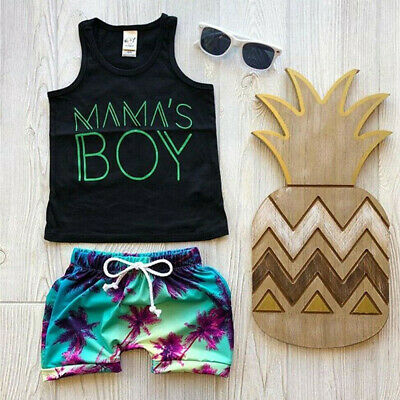 Shorts Outfits Beach Clothing For Baby Boy Toddler Newborn Summer T shirt top
