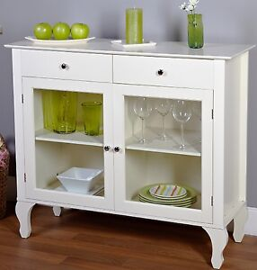 Vintage Buffet Cabinet White Antique Kitchen Storage