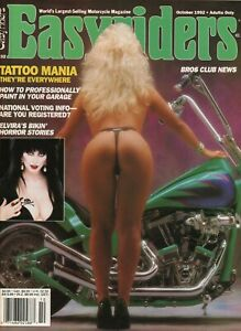 1992-October-Easyriders-Vintage-Motorcycle-Magazine-with-David-Mann-Poster