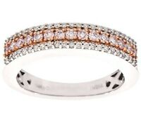 Affinity Size 10 Pink & White Diamond Band Ring, 14k, 1/2 Cttw Qvc $1200