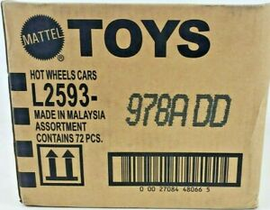 72 Lot HOT WHEELS MATTEL FACTORY Open Box CASE L2593-979GGx