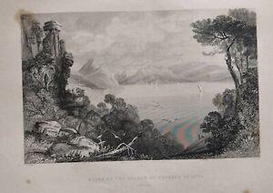 1839 Mediterráneo Estampado Ruinas Del Palacio De Ulises At Aito Ithaca