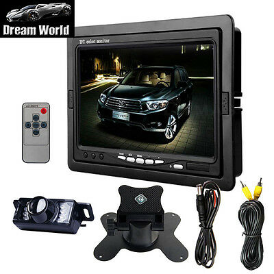 "ON SALE 7""HD Car LCD Rear View Monitor +Wired Reverse Night vision Camera System"