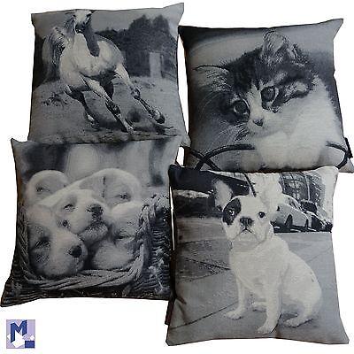 NEU Dekokissen Kissen 40x40 cm Tiere Katzen Hunde Motiv wählbar