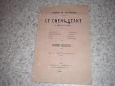 1886.arrivée drysphore chêne géant antédiluvien.Rhône.fort Pierre-Châtel Yenne