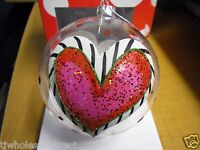 Lisa Frost Collection For Silvestri Heart Ball Holiday Christmas Winter Ornament