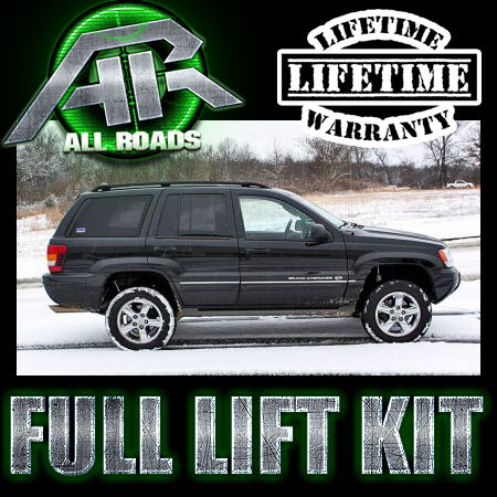 """AR 2.5"""" Complete Front Rear Lift Kit 1999-2004 Jeep WJ Grand Cherokee"""
