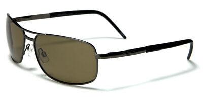 Sunglasses New Aviator Metal Sport Shades UV400 Men Women Gray Black PZ6071D