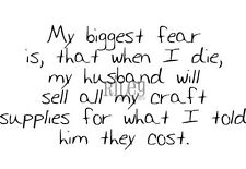 Riley & Company Funny Bones Craft Supplies Cling Mounted Stamp My Biggest Fear