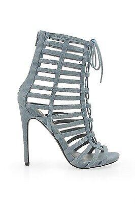 Blue Denim Sandal Booties Banbury Privileged Shoes