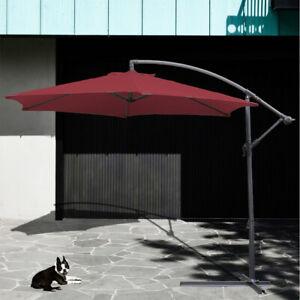 Alu-Sonnenschirm-Ampelschirm-Handkurbel-Schirm-Gartenschirm-Balkonschirm-300cm