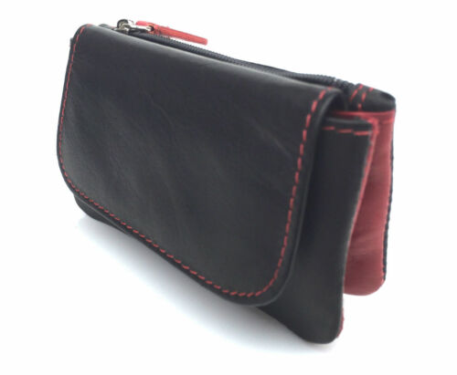 `Golunski Zen 22 Soft Leather Coin Purse Black Red