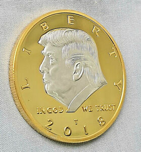 Donald-J-Trump-Gold-amp-Silver-Coin-God-Bless-Make-America-Great-Again-Medal-Retro