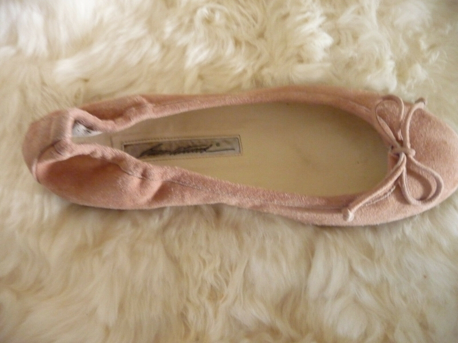Brian Atwood Pink Champage Pink Atwood Suede Ballet Flats 99224d