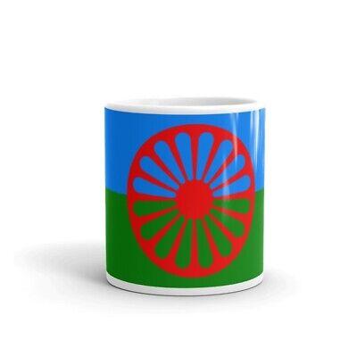 Mr taza Pulsera Tela Bandera Orgullo Gitano Pueblo Gitano 15mm Ancho