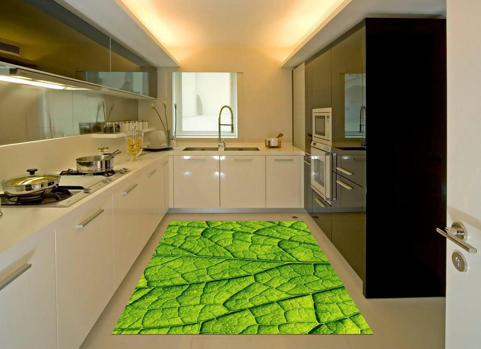 3D Leaf Texture 786 Kitchen Mat Floor Murals Wall Print Wall Deco UK Carly