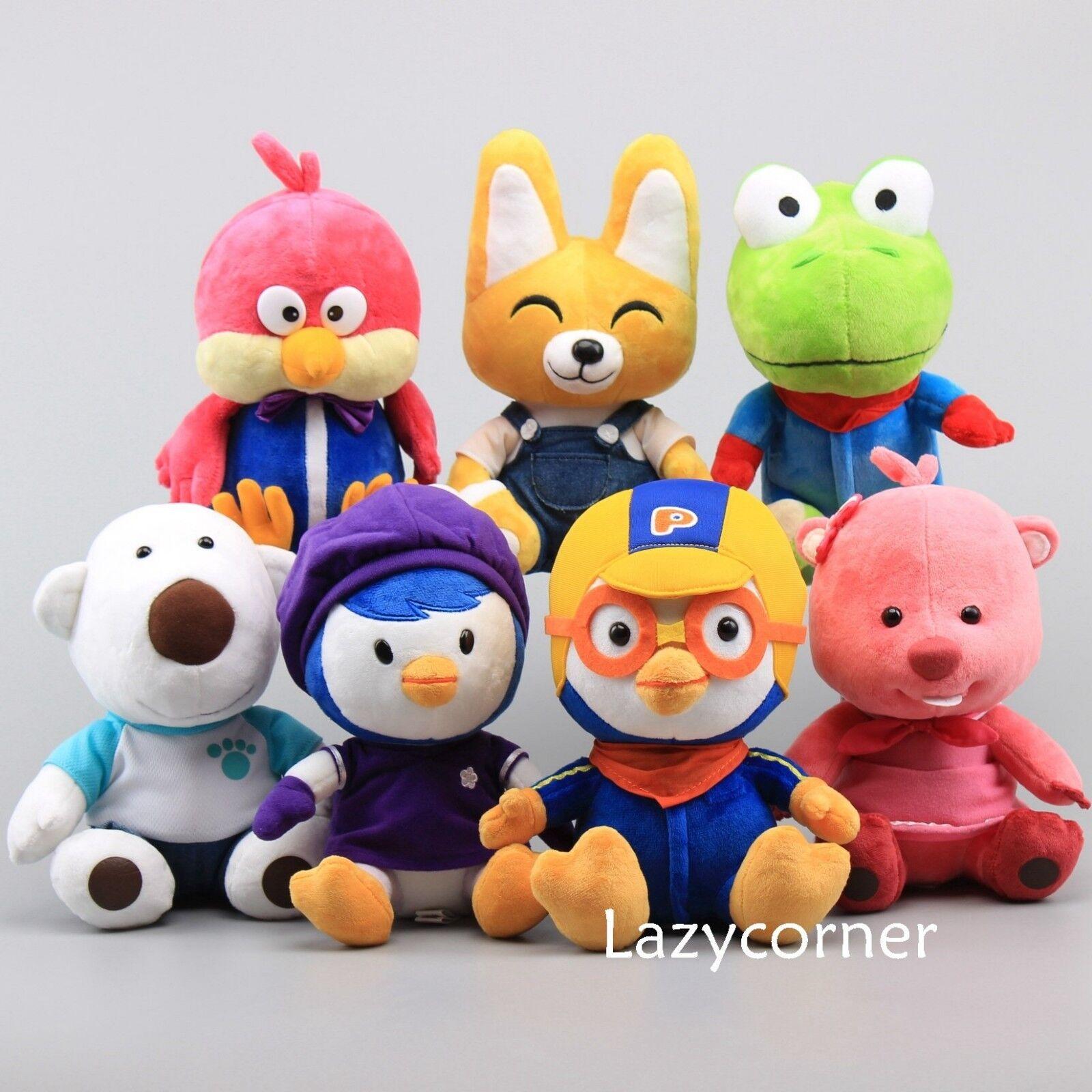 Korea Pguldro Plush leksak Crong Eddy Loopy Petty Harry Poby Stufed djur Doll 9'