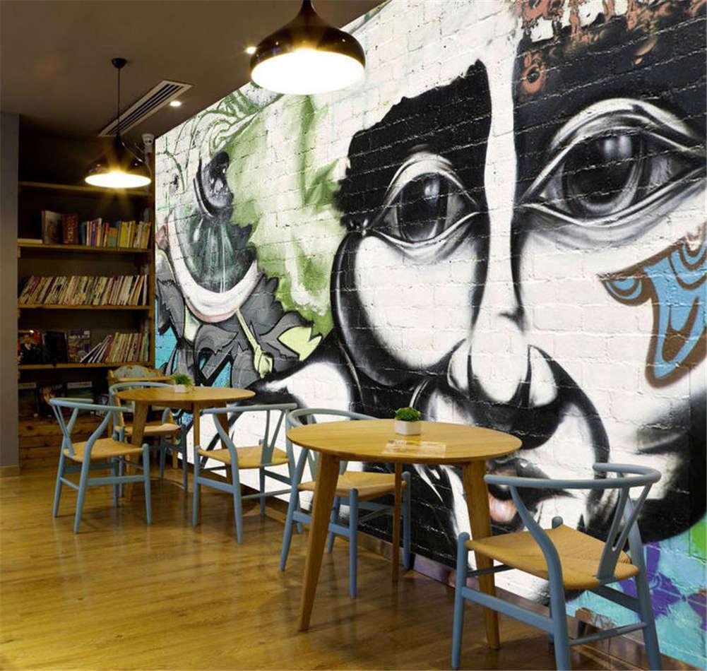 Clear Retro Portrait 3D Full Wall Mural Photo Wallpaper Printing Home Kids Decor