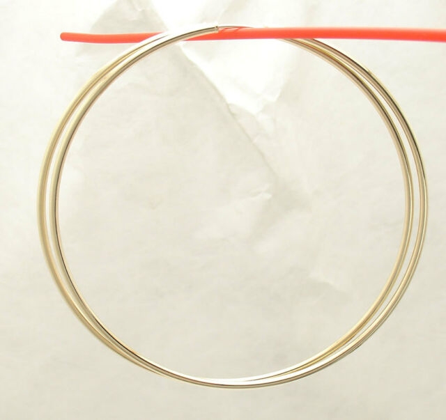 2mm X 80mm 3 1 4 Large Plain Shiny Endless Hoop Earrings Real 14k