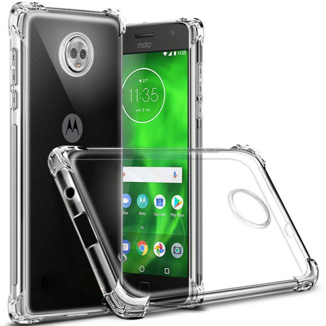 Shockproof Tough Gel Clear Case Cover for Motorola Moto E5 G7 G6 Plus Play Power