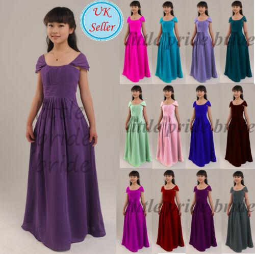 A-ligne//princesse fleur fille soirée mariage demoiselle d'honneur Junior robe 2-12 FG17