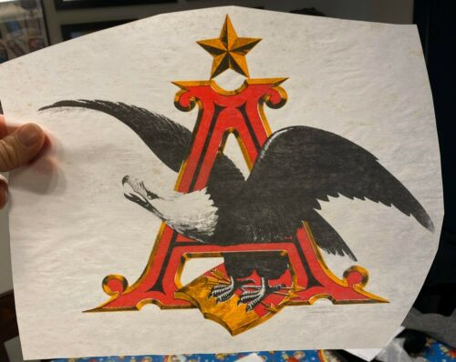 Vintage /& Original 1970s Anheuser Busch Eagle Beer T-Shirt Transfer