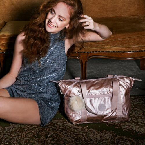 Art tracolla Kipling Pink a notte Metallic Large Tote da New Blush 94 Borsa Travel £ k0P8nwO
