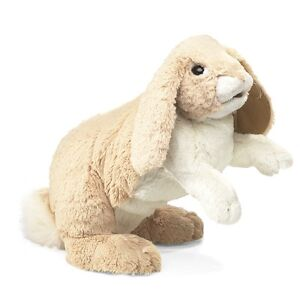 Floppy Bunny Rabbit Hand Puppet with Moveable Mouth, Folkmanis MPN 2838, 3 & Up